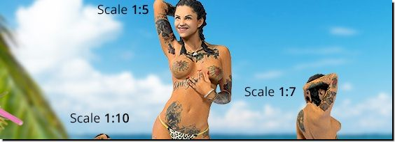 Bonnie Rotten 3D Action Figure