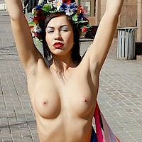 Naked protesting
